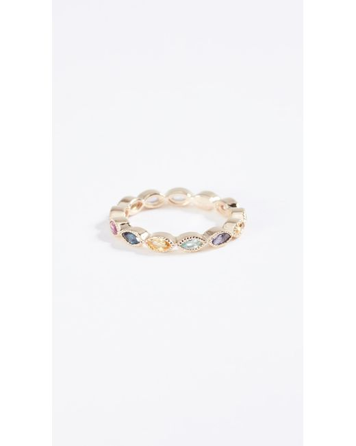Eden Presley - Metallic 14k Gold Marquise Eternity Candy Band Color Stones Ring - Lyst