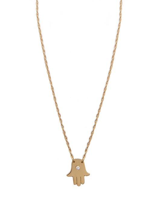 Jennifer Zeuner | Metallic Mini Hamsa Diamond Necklace | Lyst