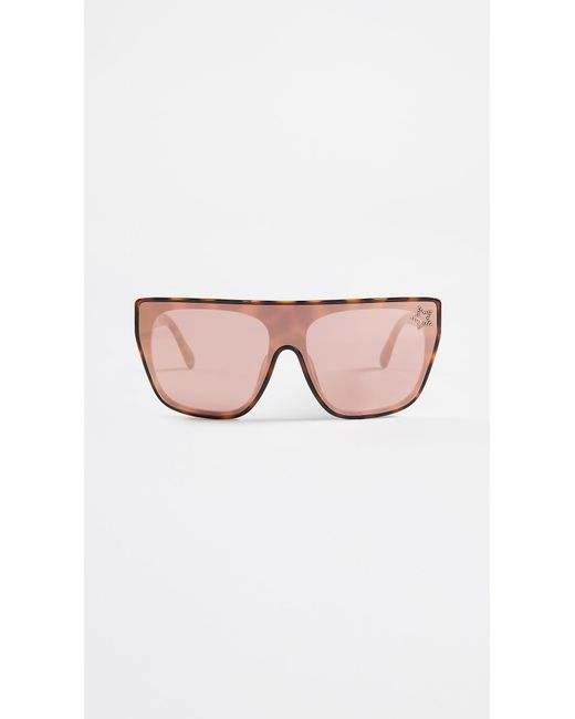 c70721e4b8 Stella McCartney - Multicolor Rectangular Sunglasses With A Masked Lens -  Lyst ...