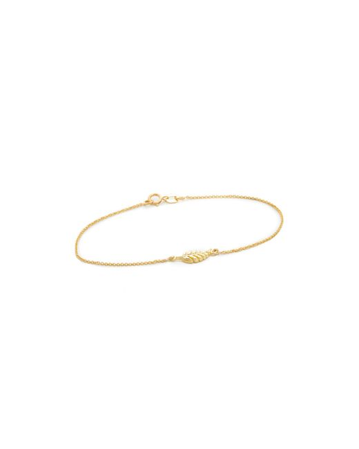Jennifer Meyer | Metallic Mini Leaf Bracelet | Lyst