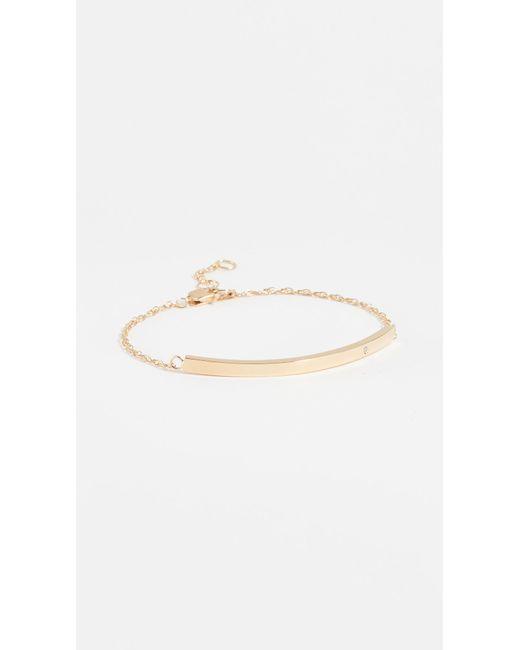 Jennifer Zeuner - Yellow Horizontal Bar Bracelet With Diamond - Lyst