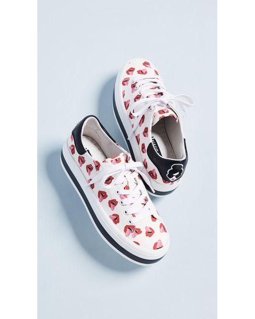 Alice + Olivia - Multicolor X Donald Roberston Ezra Lips Sneakers - Lyst