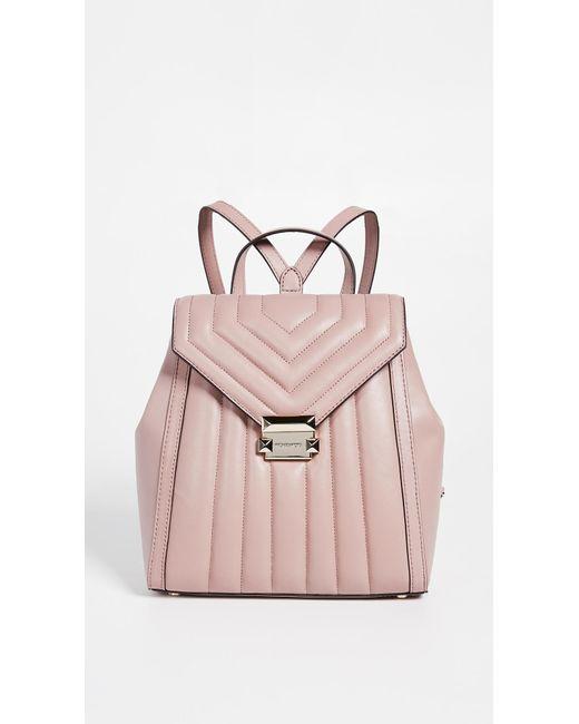 024489a4ce33 MICHAEL Michael Kors - Pink Whitney Medium Backpack - Lyst ...