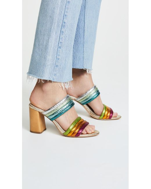 Alice + Olivia - Multicolor Lori Double Strap Sandals - Lyst