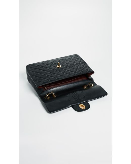 ... What Goes Around Comes Around - Chanel Jumbo 2.55 Shoulder Bag - Black  - Lyst ... 055ae0871ada8