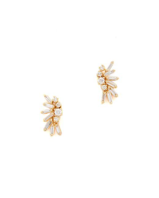 Suzanne Kalan - Metallic Fireworks 18k Gold Diamond Baguette Earrings - Lyst