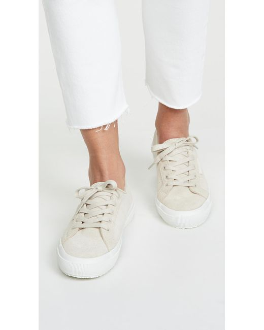 e919d5aef702 ... Superga - White 2750 Classic Suede Sneakers - Lyst ...