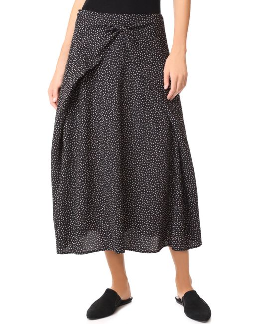 Vince | Black Tie Front Skirt | Lyst