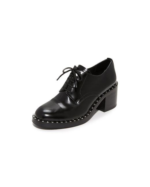 Ash | Black Xenos Heeled Oxfords | Lyst