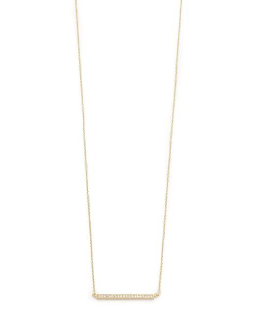 Jennifer Meyer | Yellow 18k Gold Diamond Stick Necklace | Lyst