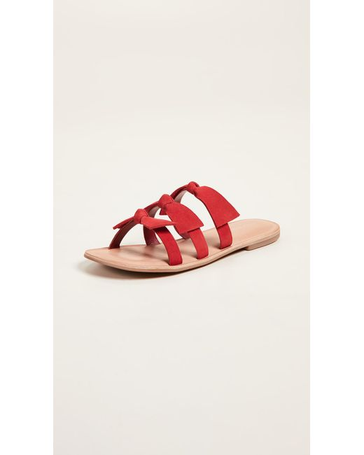 Jeffrey Campbell - Red Atone Bow Sandals - Lyst