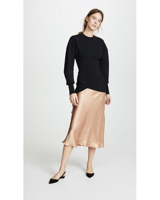 Esteban Cortazar - Black Capri Knit Contrast Circle Bomber Dress - Lyst
