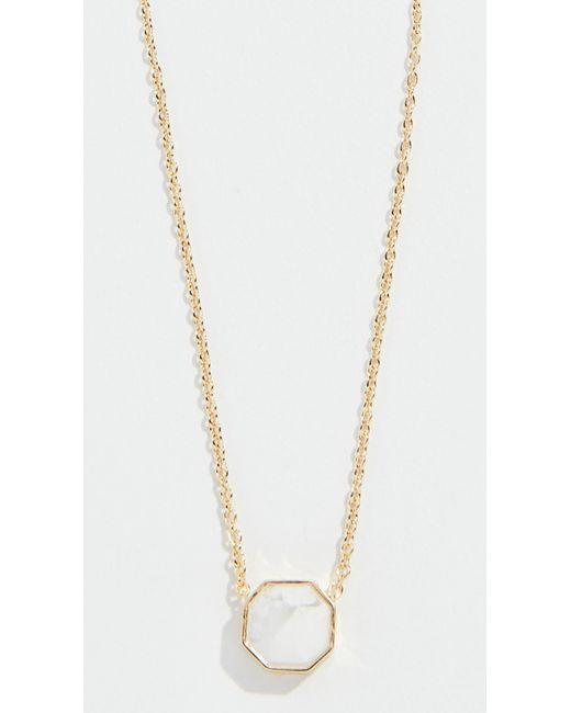 Gorjana - Metallic Power Gemstone Charm Necklace - Lyst