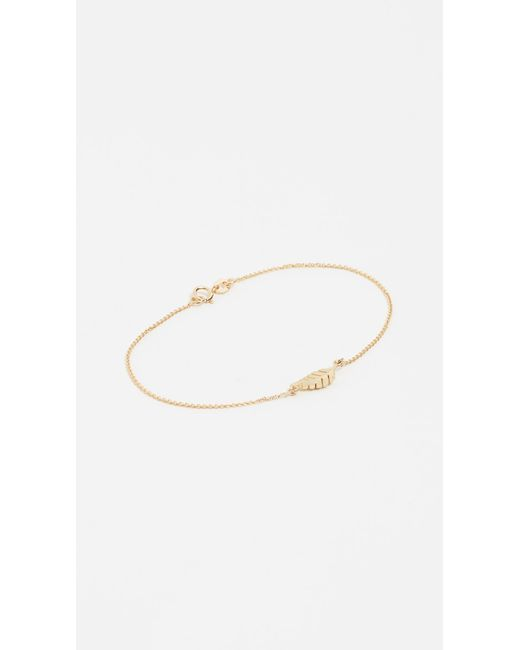Jennifer Meyer   Metallic Mini Leaf Bracelet   Lyst