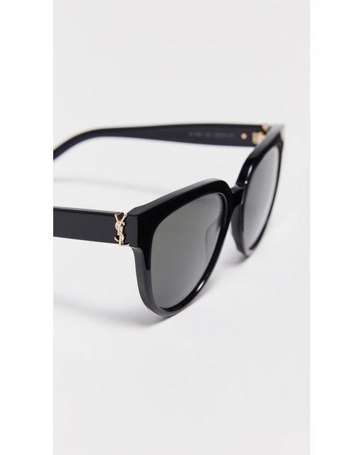 97dd9af82a ... Saint Laurent - Multicolor Sl M28 Acetate Cat Eye Sunglasses - Lyst ...