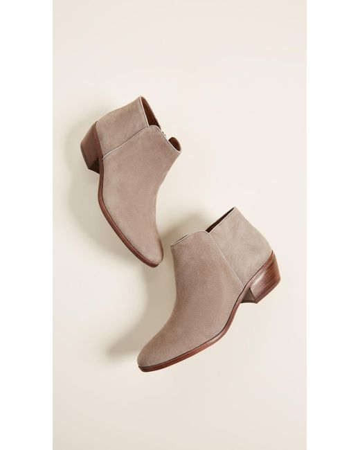 2c9ede865 Sam Edelman Petty Suede Booties in Brown - Save 1% - Lyst