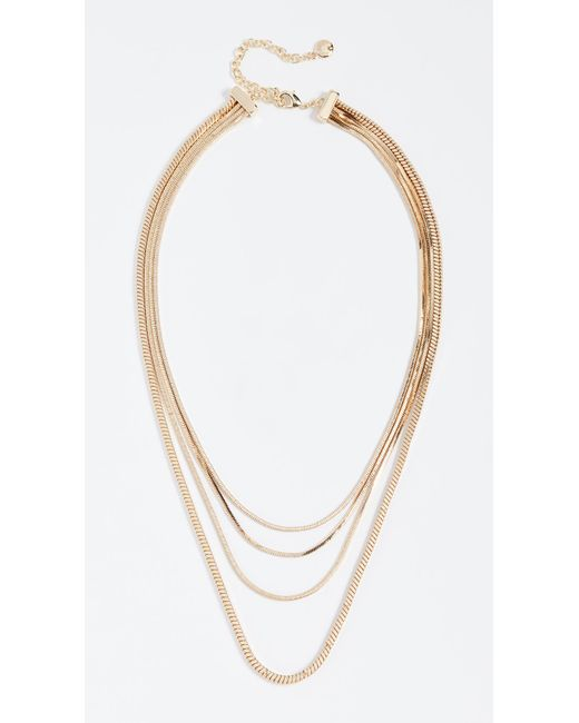 BaubleBar - Metallic Snake Chain Necklace - Lyst