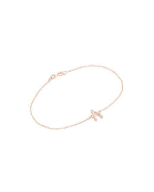 Jennifer Meyer | Pink Diamond Wishbone Bracelet | Lyst