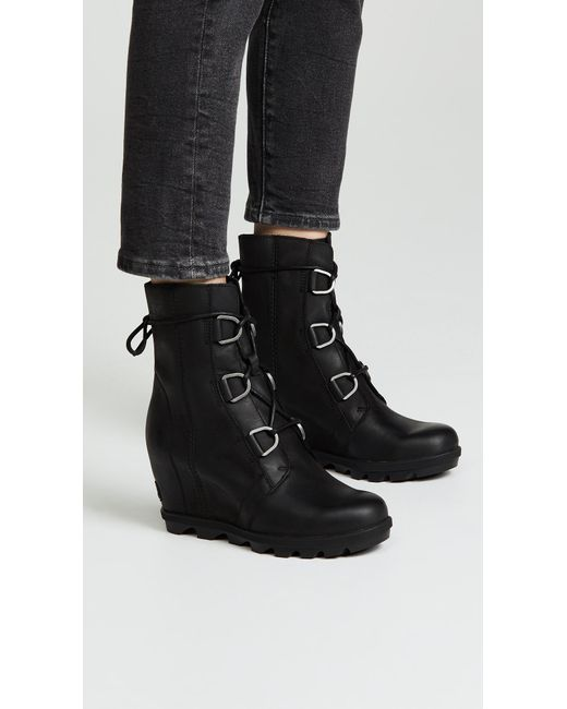 db83058366c Wedge Boots av Arctic Black In Lyst Sorel Joan Leather 60qpYp1vw