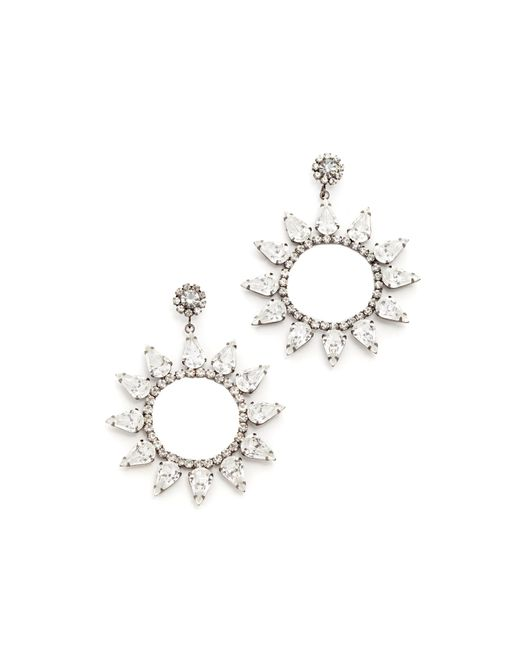 Kenneth Jay Lane | Multicolor Open Circle With Crystal Accents Earring | Lyst