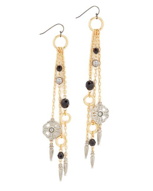 Ben-Amun | Metallic Fringe Drop Fishhook Earrings | Lyst