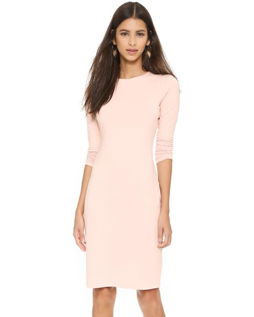 Susana Monaco | Natural Emma Long Sleeve Dress | Lyst