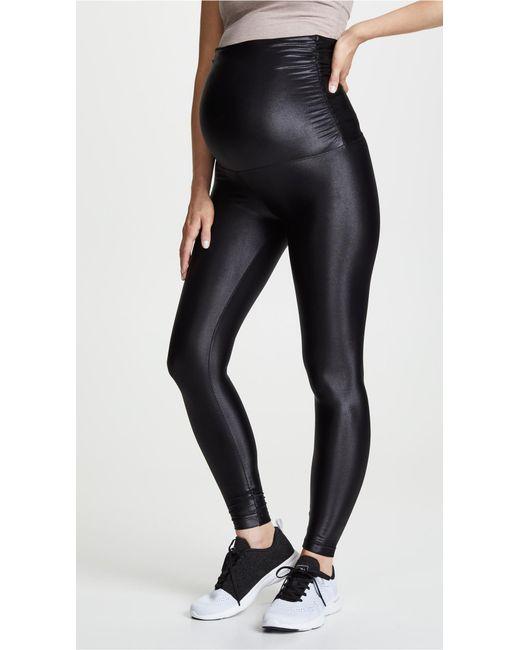 a5a6fed668c38d Koral - Black Lustrous Maternity Leggings - Lyst ...