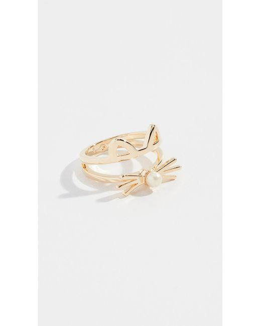 Kate Spade - Metallic Out West Cat Ring - Lyst