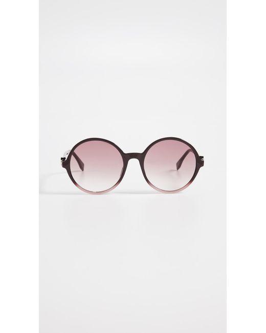 b6aafd4f197 Fendi - Multicolor Round Acyrlic Sunglasses - Lyst ...