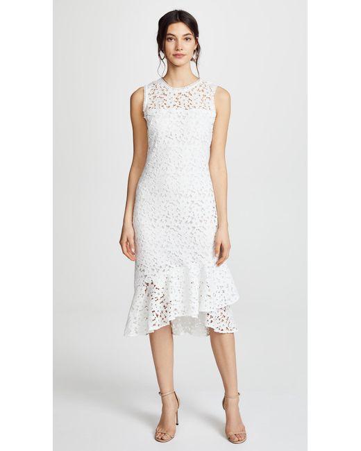 Shoshanna - White Carlita Dress - Lyst