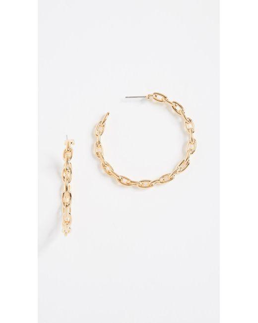 Kate Spade - Metallic Chain Reaction Link Hoops Earrings - Lyst