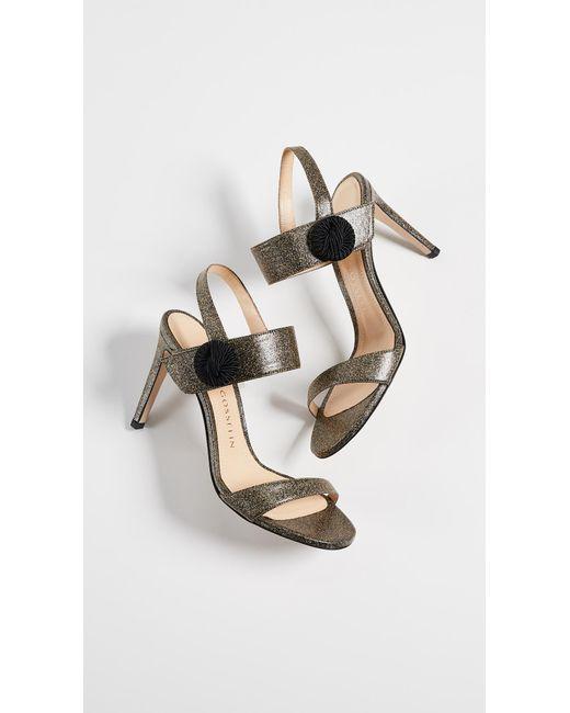 424f3f30641d0b ... Chloe Gosselin - Metallic Tori 90 Sandals - Lyst ...