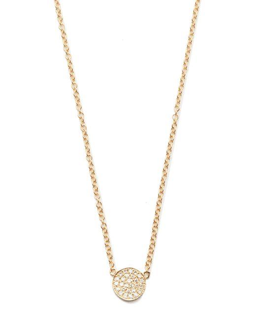 EF Collection | Metallic Diamond Mini Disc Necklace | Lyst