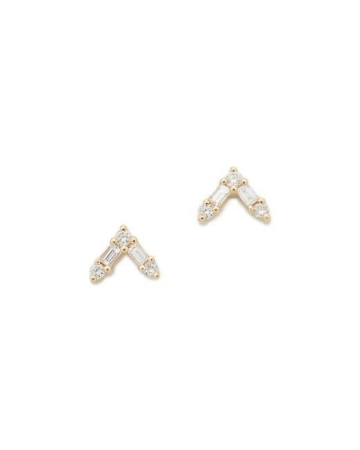 EF Collection | Metallic 14k Gold Diamond Stud Earrings | Lyst
