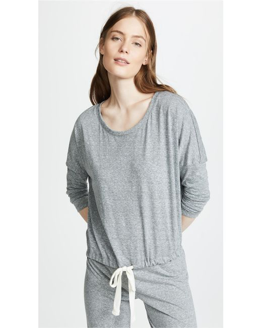 Eberjey - Gray Heather Slouchy Pajama Top - Lyst