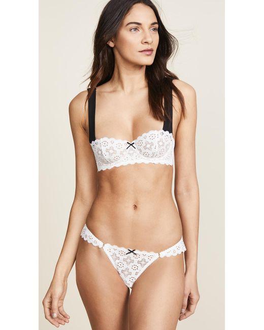 32294aba94c Fleur du Mal Crochet Lace Balconette Bra in White - Save 2% - Lyst