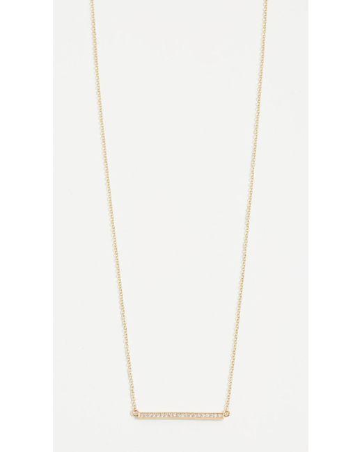 Jennifer Meyer - Yellow 18k Gold Diamond Stick Necklace - Lyst