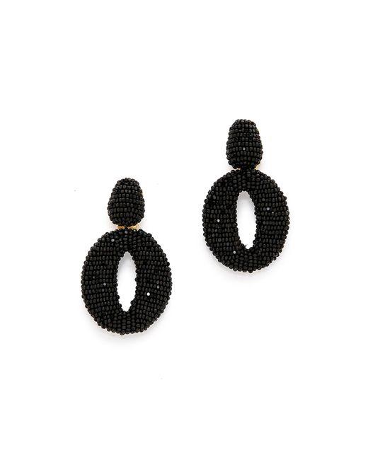 Oscar de la Renta | Black Classic Oscar O Earrings | Lyst