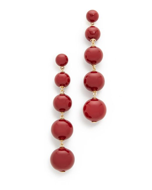 Kate Spade | Red Precious Poppies Bauble Drop Earrings | Lyst