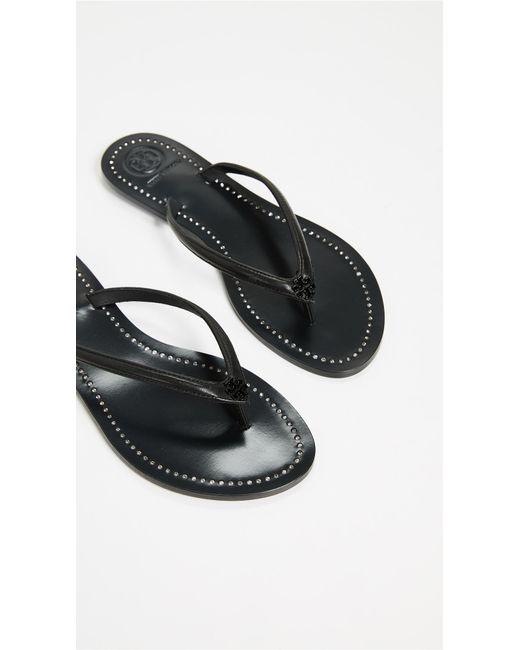 72390e9d8499 ... Tory Burch - Black Liana Thong Sandals - Lyst ...