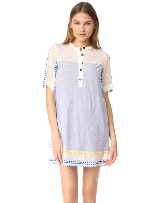 Lemlem | Blue Mwali Shirtdress | Lyst
