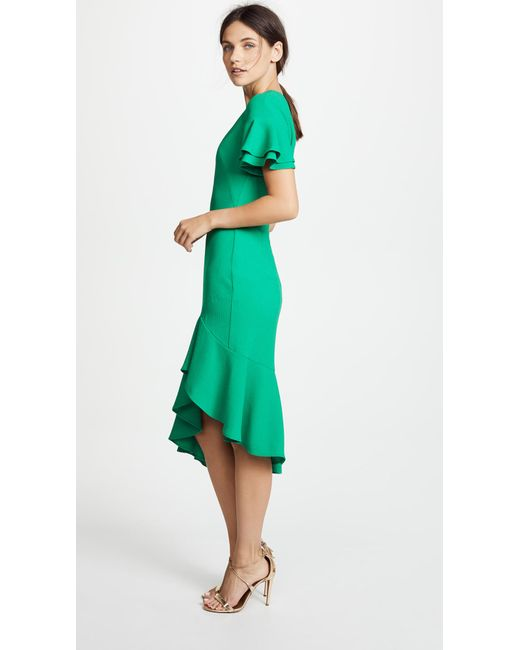 ... Black Halo - Green Ruiz Dress - Lyst ...
