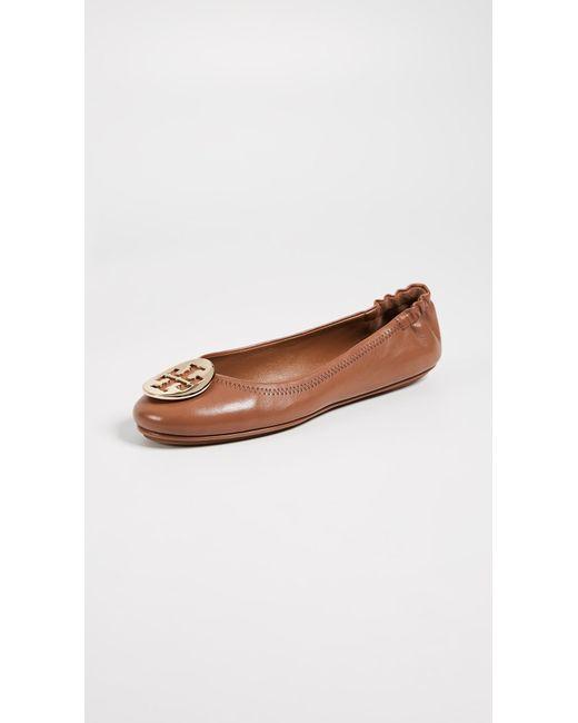 97cc0b6267f6 Tory Burch - Brown Minnie Travel Ballet Flat (arabian Spice) Women s Shoes  ...
