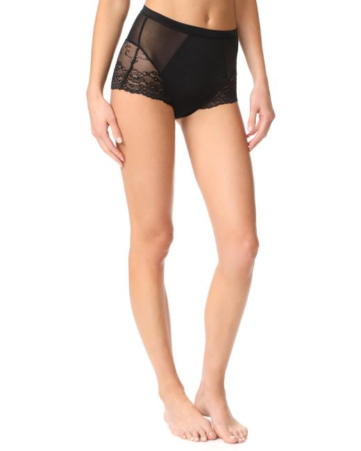 Spanx - Black Lace Collection Briefs - Lyst
