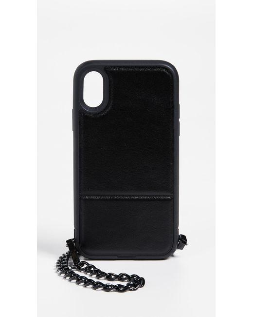 Rebecca Minkoff - Black Stashback Cross Body Iphone X Case - Lyst