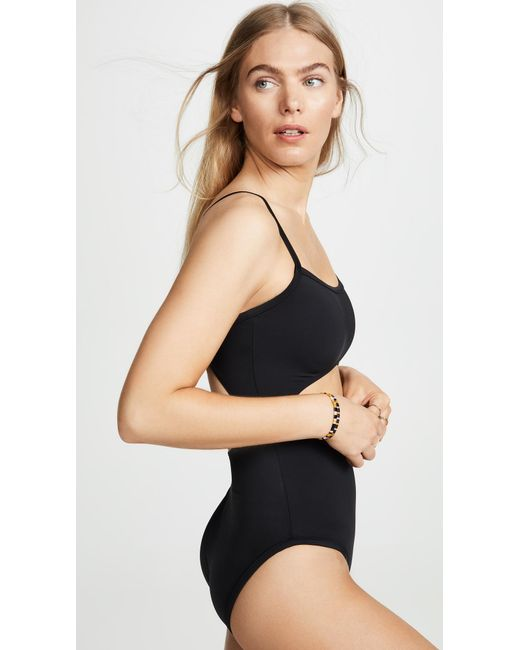 52e20c92bb76f ... Madewell - Black Second Wave Cutout One Piece Swimsuit - Lyst ...