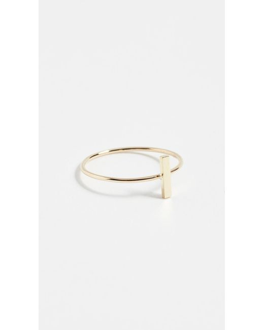 Jennifer Meyer - Metallic Bar Ring - Lyst