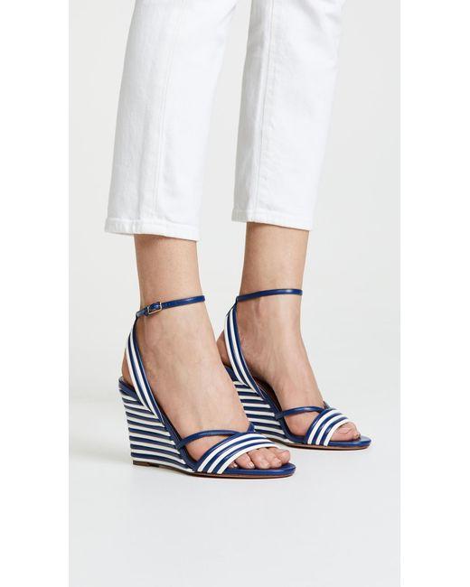 Aquazzura - Blue Sundance Wedge 85 Sandals - Lyst
