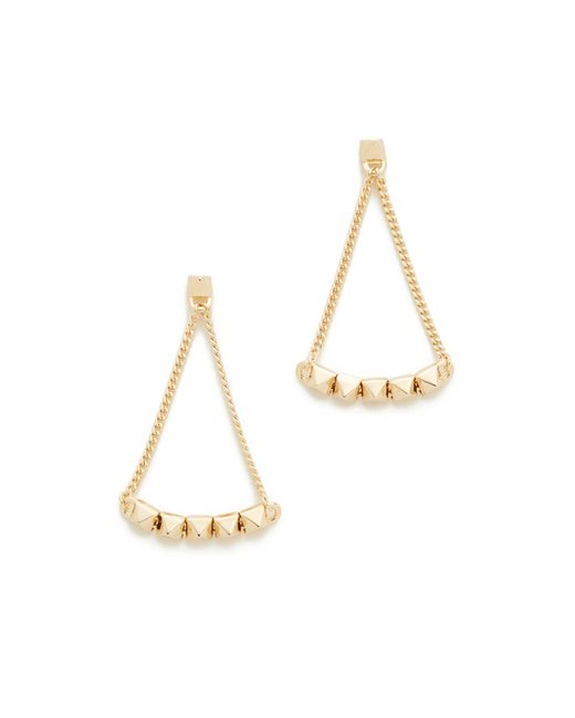 Eddie Borgo | Metallic Pyramid Tennis Link Earrings | Lyst