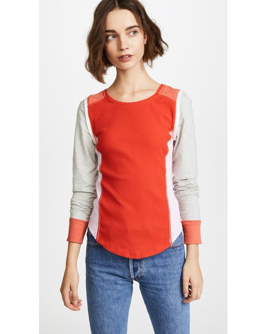 Free People | Red Fancy That Tee | Lyst